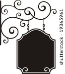 exquisite hanging sign with... | Shutterstock .eps vector #19365961