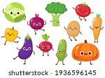 cartoon vegetable characters... | Shutterstock .eps vector #1936596145