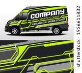 delivery van vector design. car ... | Shutterstock .eps vector #1936611832