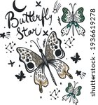 Butterfly Star. Print With...