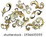 vector damask vintage baroque... | Shutterstock .eps vector #1936635355