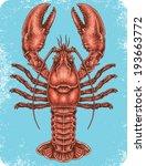 hand drawn lobster. | Shutterstock .eps vector #193663772
