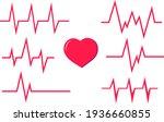 cardiogram  heartbeat graph....   Shutterstock .eps vector #1936660855