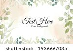 beautiful background with leaf... | Shutterstock .eps vector #1936667035