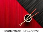 Chopsticks And Bowl With Soy...