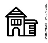 lodging icon or logo isolated...   Shutterstock .eps vector #1936719802