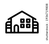 lodging icon or logo isolated...   Shutterstock .eps vector #1936719808
