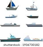 Vector Illustration Flat Ship...