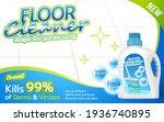 floor cleaner package on shiny... | Shutterstock .eps vector #1936740895