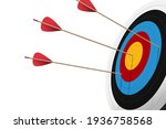 red arrow hit to center of... | Shutterstock .eps vector #1936758568
