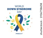 world down syndrome day. down... | Shutterstock .eps vector #1936758658