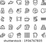 food line icon set   hot cup ... | Shutterstock .eps vector #1936767835