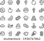 Food Line Icon Set   Cherry...