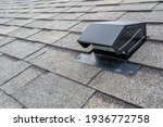 Small photo of typical static passive vent installation on a residential roof