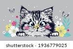 Cute Sweet Cat Kitten Head...
