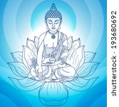 buddha in meditation with hands ...   Shutterstock .eps vector #193680692