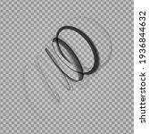 abstract swirl shape. black...   Shutterstock .eps vector #1936844632