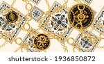 seamless pattern decorated with ... | Shutterstock .eps vector #1936850872