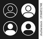 user profile icon vector.... | Shutterstock .eps vector #1936851748
