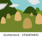 rural landscape from... | Shutterstock .eps vector #1936856842