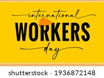international workers day...   Shutterstock .eps vector #1936872148