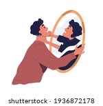 self violence and abuse concept.... | Shutterstock .eps vector #1936872178