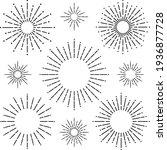 circular radial line of light... | Shutterstock .eps vector #1936877728