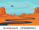 vector landscape with deserted... | Shutterstock .eps vector #1936880062