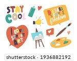set of icons street artist...   Shutterstock .eps vector #1936882192