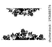 vintage black and white floral... | Shutterstock .eps vector #193688576