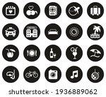 honeymoon trip icons white on... | Shutterstock .eps vector #1936889062
