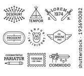 minimal vintage labels with... | Shutterstock .eps vector #193690082