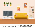 living room interior....   Shutterstock .eps vector #1936902748