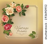 Vintage Frame With Beautiful...