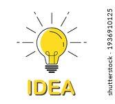 idea concept with light bulb....   Shutterstock .eps vector #1936910125
