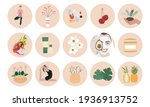 healthy lifestyle icons set.... | Shutterstock .eps vector #1936913752