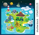 cute cartoon game level map... | Shutterstock .eps vector #1936922125