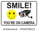 smile you're on camera white... | Shutterstock .eps vector #1936930012