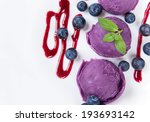 ice cream scoops on white... | Shutterstock . vector #193693142