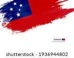stylish brush flag of samoa.... | Shutterstock .eps vector #1936944802