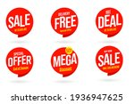 seasonal weekend sale and... | Shutterstock .eps vector #1936947625