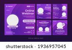 online webinar social media...   Shutterstock .eps vector #1936957045
