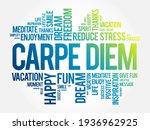 carpe diem word cloud collage ...   Shutterstock .eps vector #1936962925