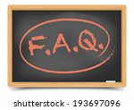 detailed illustration of a faq... | Shutterstock .eps vector #193697096
