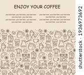 seamless coffee pattern with... | Shutterstock .eps vector #1936973692
