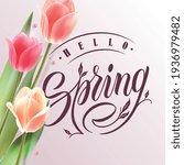 hello spring typography vector...   Shutterstock .eps vector #1936979482