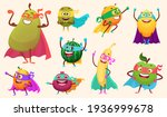 superheroes fruits collection.... | Shutterstock . vector #1936999678
