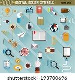 digital design symbols. flat...   Shutterstock .eps vector #193700696