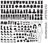 vector collection of woman...   Shutterstock .eps vector #193701152