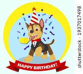 Paw Patrol Chase Birthday Card. ...